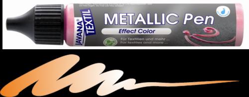 JAVANA METALLIC PEN - Контур металик за текстил и др., 29 мл. - Оранж