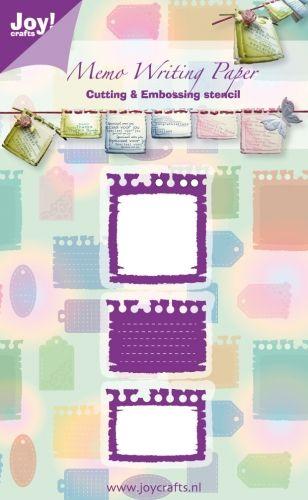 JOY Crafts Memo Writing - Щанци за рязане и ембос  6002/0247