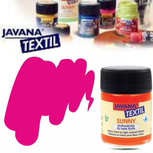 JAVANA SUNNY - Боя за рисуване върху текстил, светла основа 50мл. - РОЗА