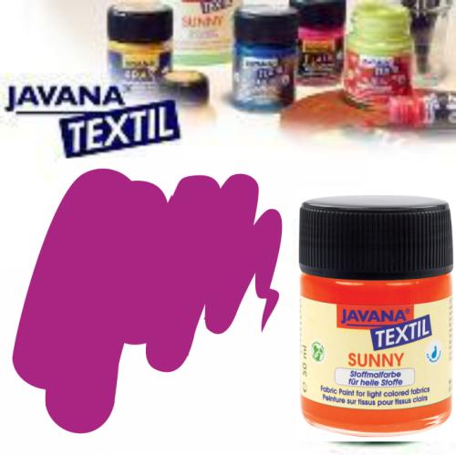 JAVANA SUNNY - Боя за рисуване върху текстил, светла основа 50мл. - ПУРПУРНО