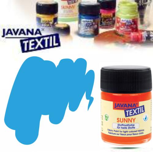 JAVANA SUNNY - Боя за рисуване върху текстил, светла основа 50мл. - СВЕТЛО СИНЬО