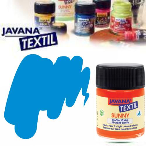 JAVANA SUNNY - Боя за рисуване върху текстил, светла основа 50мл. - СИНЬО