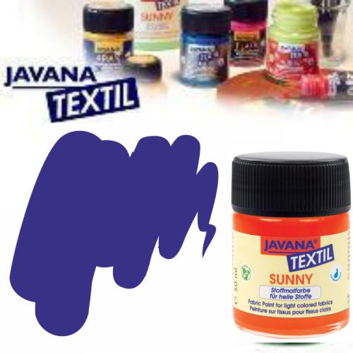JAVANA SUNNY - Боя за рисуване върху текстил, светла основа 50мл. - КРАЛСКО СИНЬО
