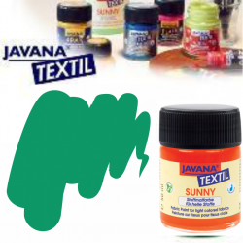 JAVANA SUNNY - Боя за рисуване върху текстил, светла основа 50мл. - ТЮРКОАЗ