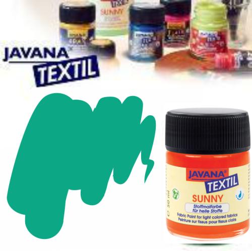 JAVANA SUNNY - Боя за рисуване върху текстил, светла основа 50мл. - ТЮРКОАЗ СВЕТЪЛ