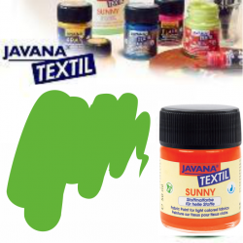 JAVANA SUNNY - Боя за рисуване върху текстил, светла основа 50мл. - МАЙСКО ЗЕЛЕНО