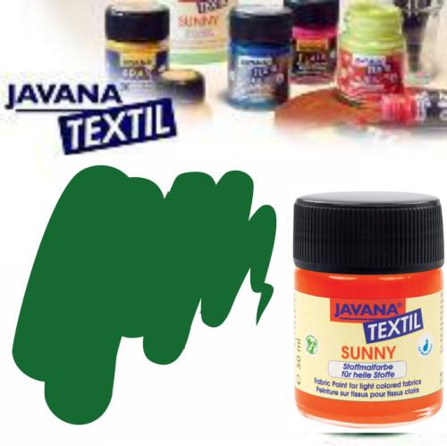 JAVANA SUNNY - Боя за рисуване върху текстил, светла основа 50мл. - ТЪМНО ЗЕЛЕНО