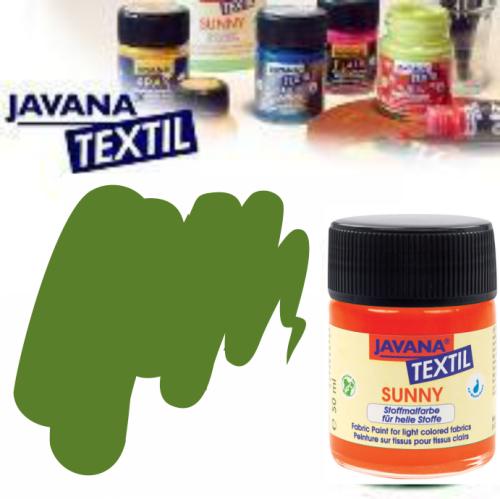 JAVANA SUNNY - Боя за рисуване върху текстил, светла основа 50мл. - МАСЛИНЕНО ЗЕЛЕНО