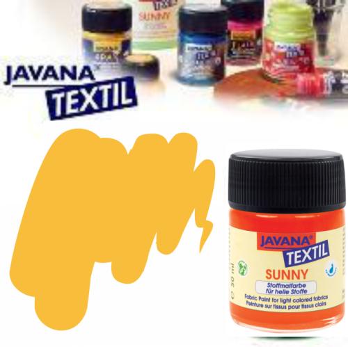 JAVANA SUNNY - Боя за рисуване върху текстил, светла основа 50мл. - ОХРА