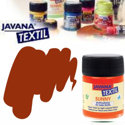 JAVANA SUNNY - Боя за рисуване върху текстил, светла основа 50мл. - КАФЯВА