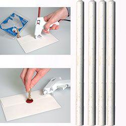 ARTEMIO WAX 7mm - Восък пръчки за печат 4 бр WHITE