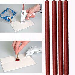 ARTEMIO WAX 7mm - Восък пръчки за печат 4 бр BRIGHT RED