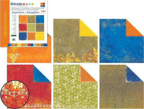 "Artemio INSPIRATION - Скрапбукинг блок 12""х12"" /12листа - MEDITERANEO"