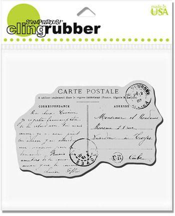 STAMPENDOUS,USA - Гумен клинг печат Carte Poste