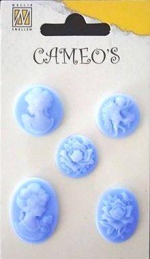 CAMEOS -  елемнти от полимерна смола LIGHT BLUE