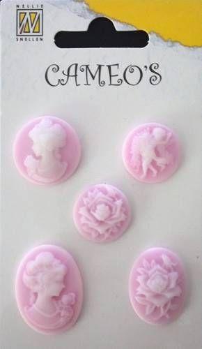 CAMEOS - елементи от полимерна смола PINK