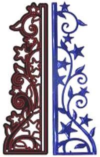 CRAFTS TOO Cutting Stencil - Щанца за рязане STARRY NIGHT 3.7 x 12.3 cm