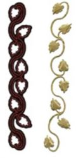 Crafter New Cutting Stencil - Дизайн щанца за рязане  2.4 x 15 cm