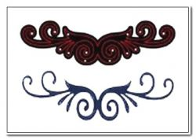 CRAFTS TOO Cutting Stencil - Щанца за рязане DOUBLE SCROLL 11 x 3.3 cm