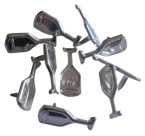 BRADS CRAFTERS Design  - Дизайн кабъри 10 бр. CHAMPAGNE SILVER