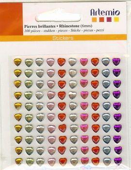 Artemio Gemstones - Елементи сърца СЗЛ - 6mm. 100 бр.