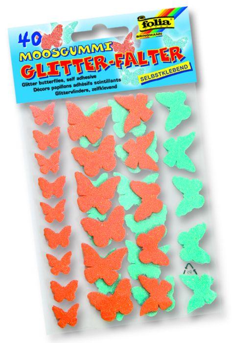 3D GLITZER STICKER BUTTERFLIES - 3D глитер стикери Пеперуди  40 бр.