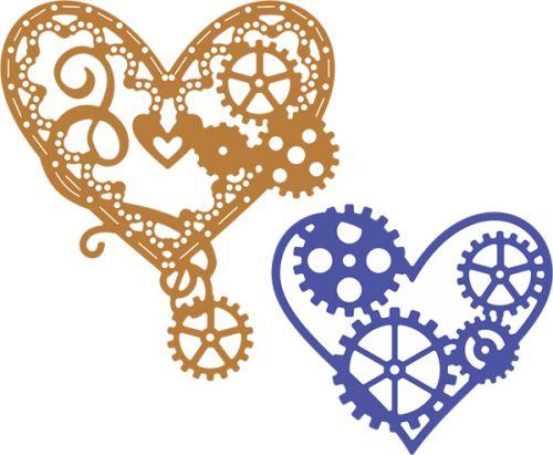HEARTS by Cheery Lynn ,USA - Шаблони за рязане и ембос