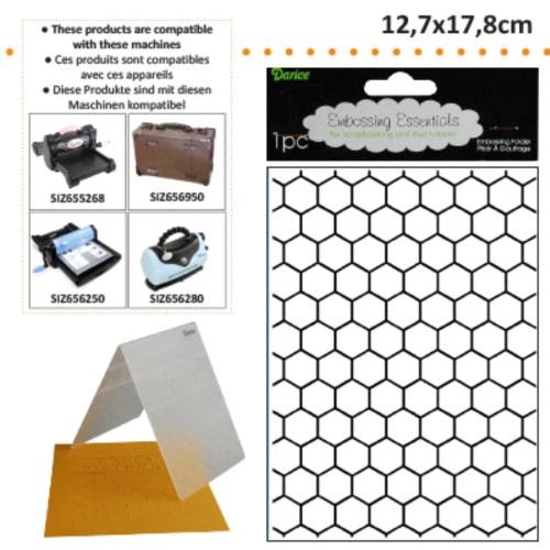 DARICE Emboss Folder - Папка за релеф  XL, 127 х 178 мм.