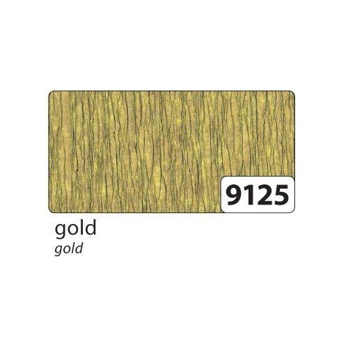 FOLIA - ДИЗАЙНЕРСКИ едър креп хартия 50х125 см. - Злато