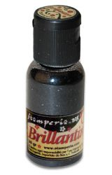 Brillantini,Stamperia - Диамантен брокат за декорация 20 гр. BLACK