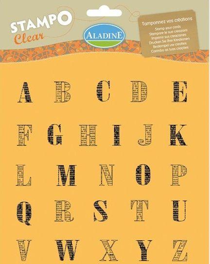 ALPHABET by ALADINE STAMPS France - Дизайнерски печати 20Х20см