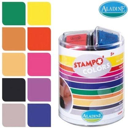 KIDS colors ALADINE - К-кт безвредни миещи се тампони 10 цв. CANDY