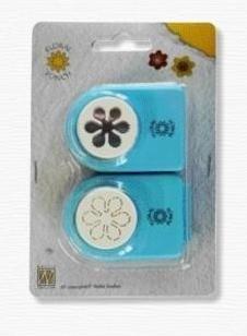 Nellie Snellen Small SET -Комплект ембос пънч + пънч FLP020 - 1,5 cm.