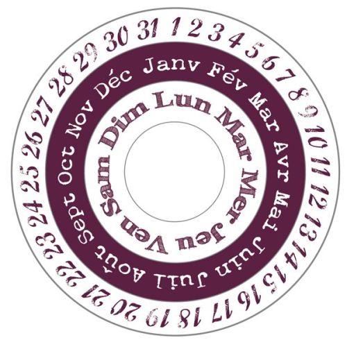 ALADINE STAMP XL - `VINTAGE` гумен печат set