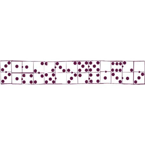 ALADINE STAMP XL - Фонов бордюрен гумен печат 03577 /  5 X 30 cm.