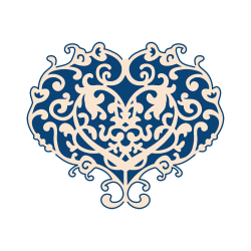HEART Tattered Lace Dies - Детайлни дизайн щанци - Deco Heart
