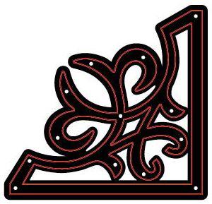 CRAFTS TOO Cutting Stencil - Щанца за рязане  FLOURISHING CORNER 7.2 x 7cm