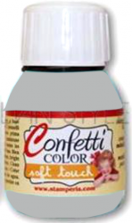 "Confetti COLOR 60 ml - ""КАДИФЕНА"" декор боя  - Saten Light Grey"
