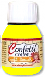 "Confetti COLOR 60 ml - ""КАДИФЕНА"" декор боя  - Saten Pale Yellow"