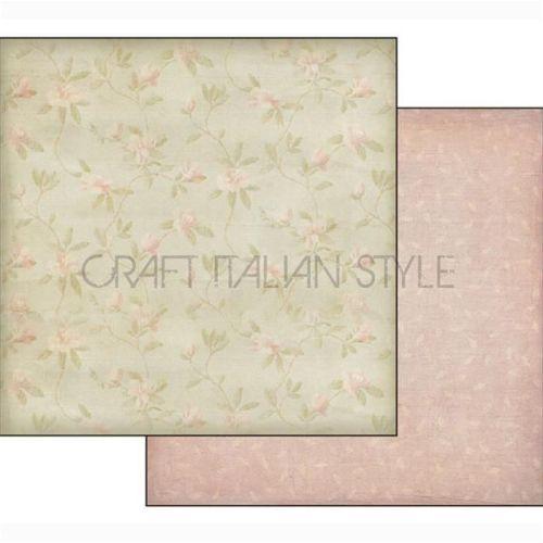 Double Face Scrap Paper - Bridal fantasy - Дизайнерски скрапбукинг картон 30,5 х 30,5 см. - Made in Italy