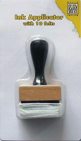 Nellies` INK Applicator -10бр. апликатори за мастило + дръжка