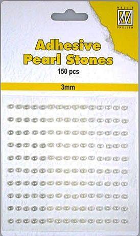 ADHESIVE Nellies` Gemstone - Самозалепващи перлички 150 бр. 3mm