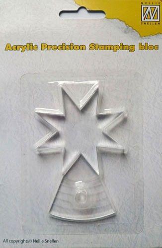 Nellie Snellen - Acrylic Precision Stamping Bloc - До 6см радиус