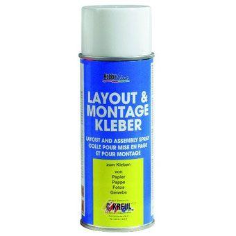 LAYOUT & Mounting glue - МОНТАЖНО / временно лепило 400мл спрей