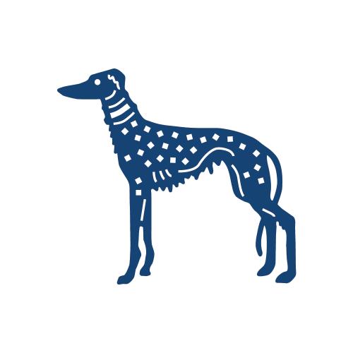 Tattered Lace Dies - Детайлни ажурни щанци - Art Deco Dog