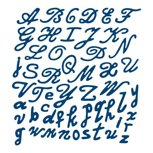 ALPHABET Tattered Lace Dies - Детайлни ажурни щанци - Ornate Alphabet