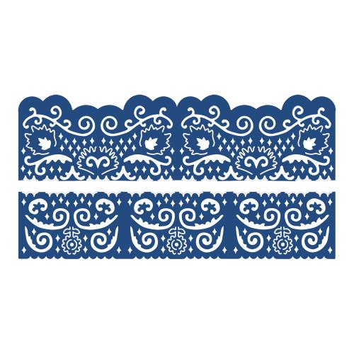 Tattered Lace Dies - Детайлни ажурни щанци - Florentine Fancy Edges Set 2