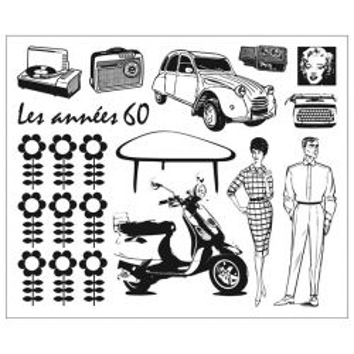ALADINE Stampo Clear,France - Дизайнерски печати 15Х15см