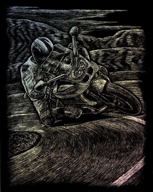 Engraving Art A4 - Картина за гравиране - хамелеон фолио