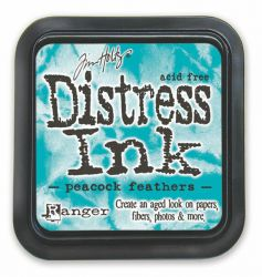 "Distress ink pad by Tim Holtz - Тампон, ""Дистрес"" техника - Peacock Feathers"